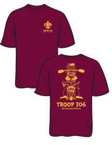 T306 Shirt Maroon