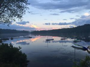 Evening program next to the lake.